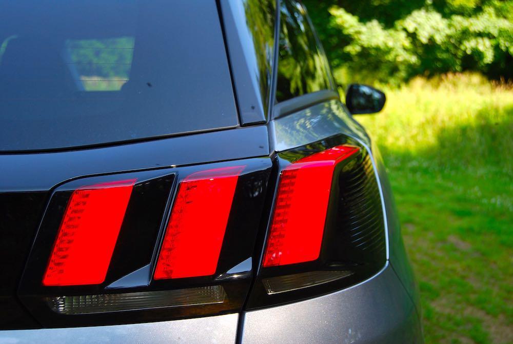 Peugeot 3008 rear lights