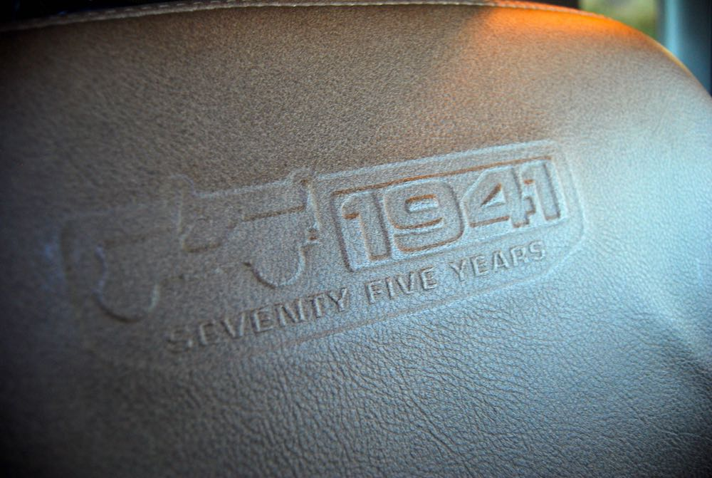Jeep Wrangler 75th leather seat