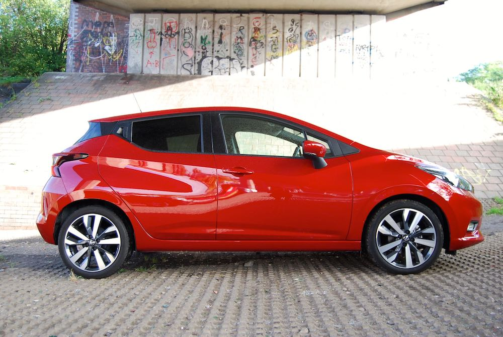 Nissan Micra side red