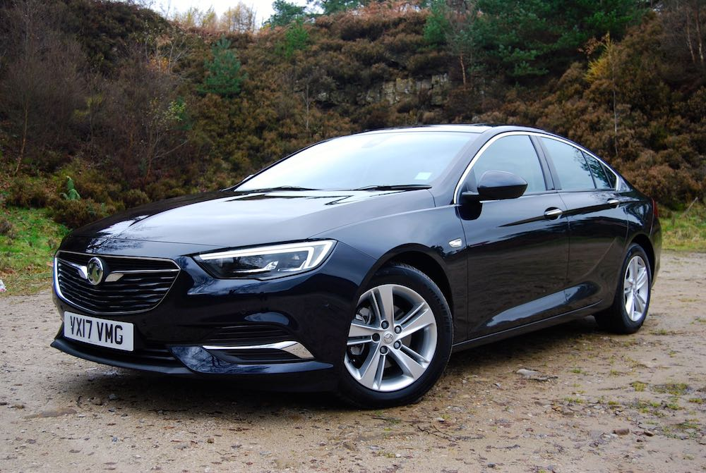 vauxhall insignia grand sport front side blue