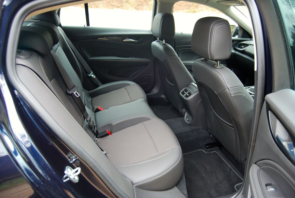 vauxhall insignia grand sport rear seats