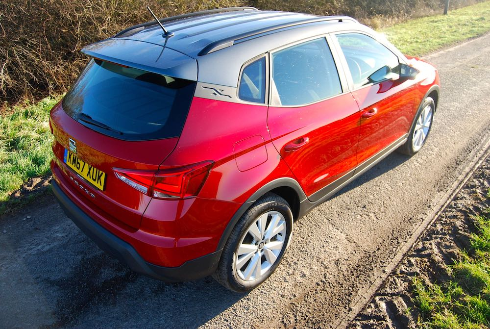 Seat Arona red rear side high