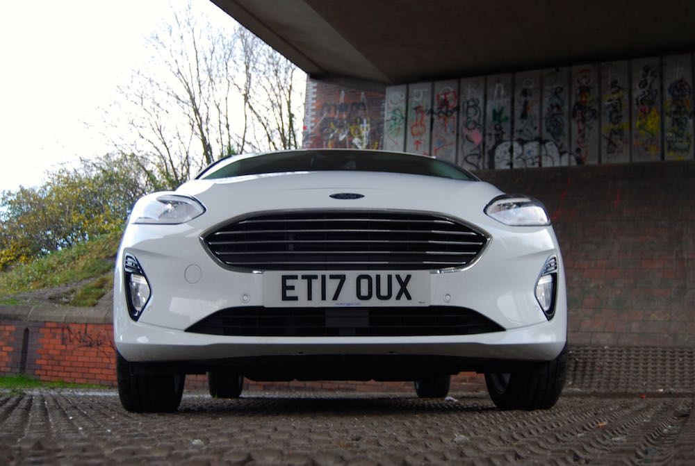 new ford fiesta front white