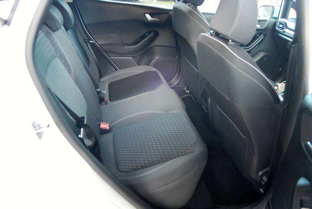 new ford fiesta rear seat