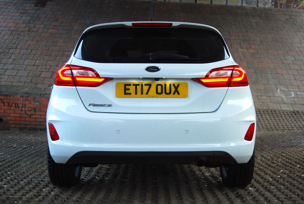 new ford fiesta rear white