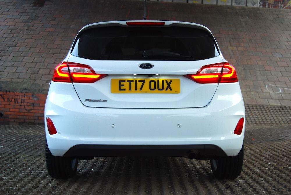 new ford fiesta rear white