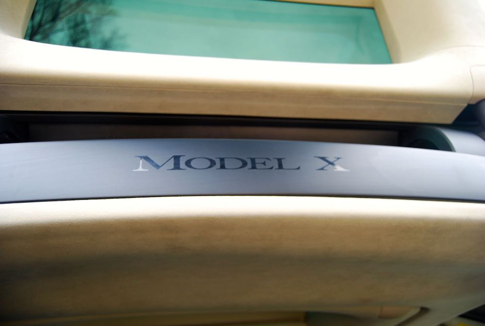 Tesla Model X badge