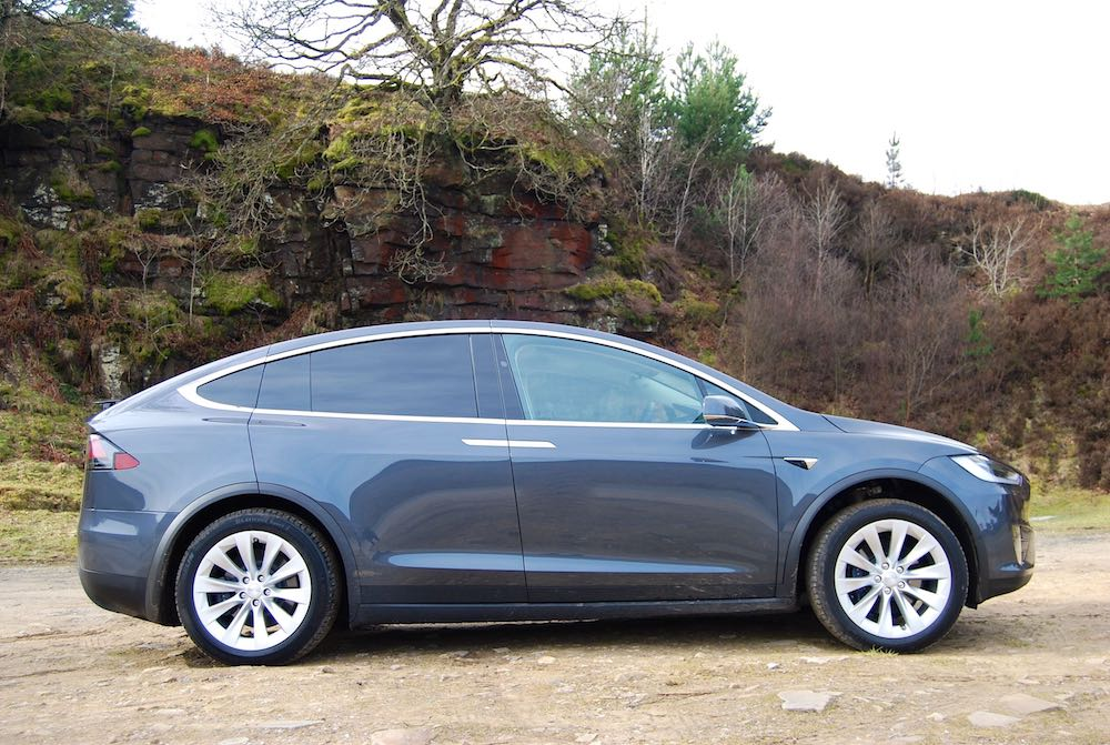Tesla Model X side grey