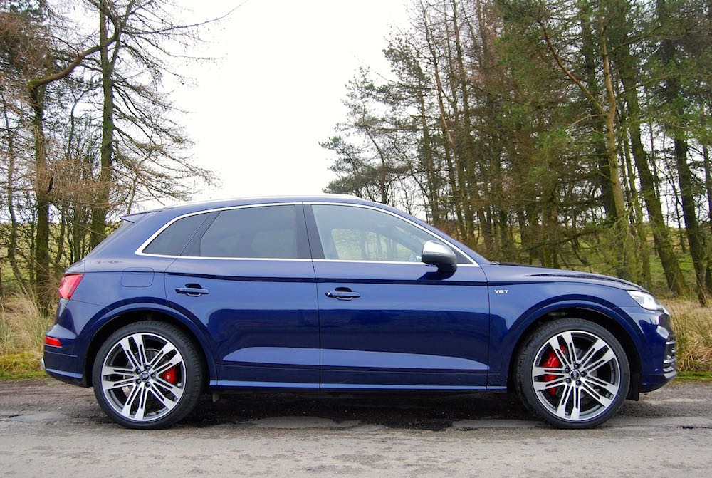 audi sq5 side blue