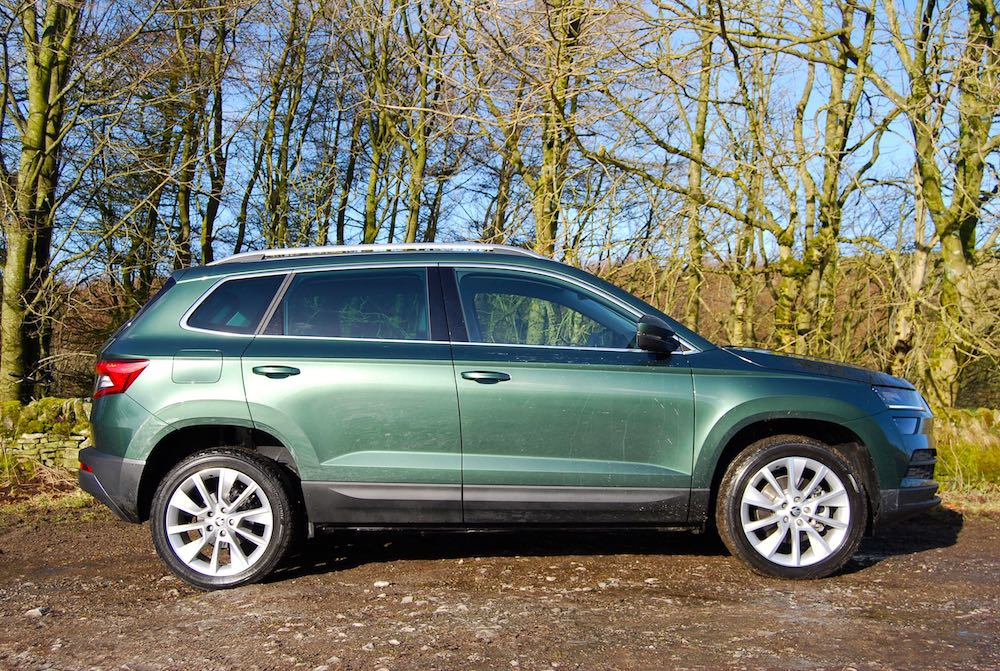 skoda karoq side green