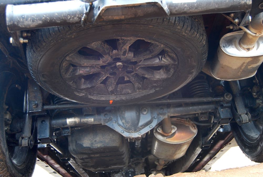 ssangyong musso underneath suspension