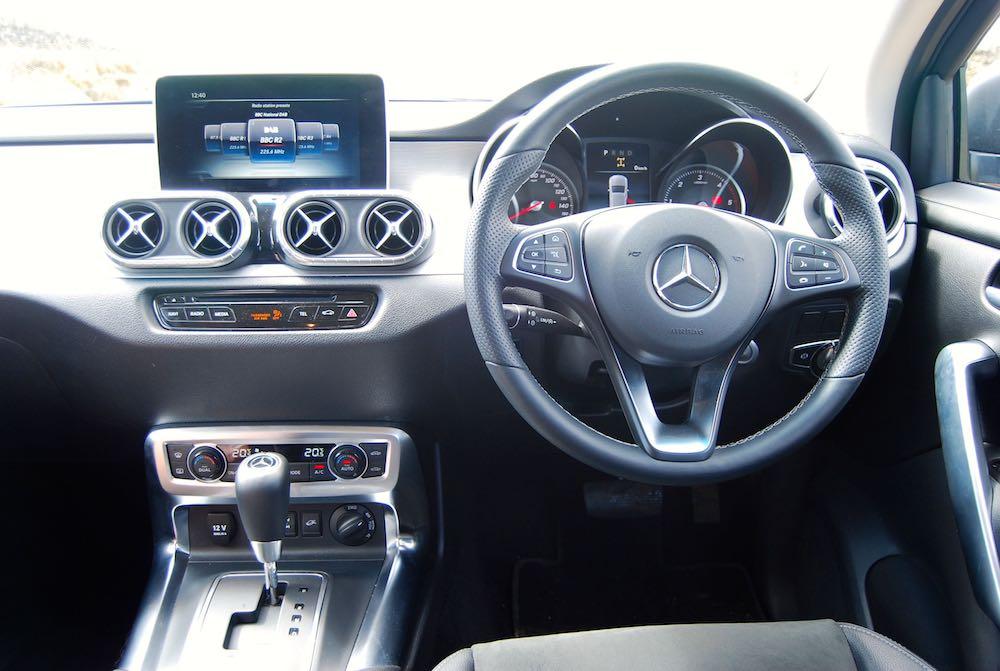 mercedes x-class cabin interior