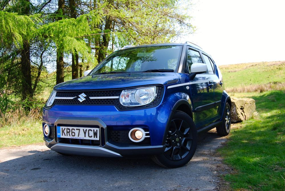 suzuki ignis adventure blue front side