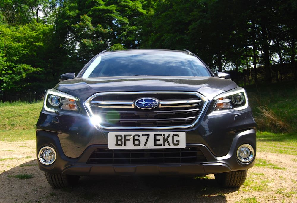 Subaru Outback front grey