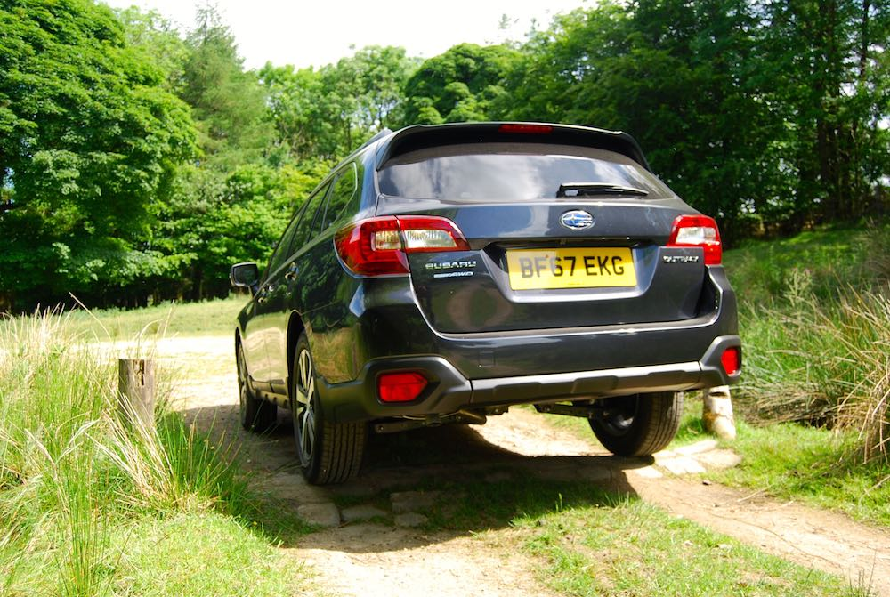 Subaru Outback grey rear off road