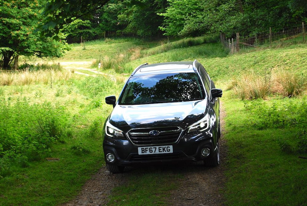 subaru outback off road grey front
