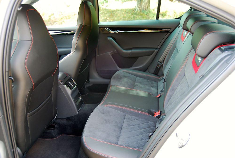 Skoda Octavia vRS 235 rear seats