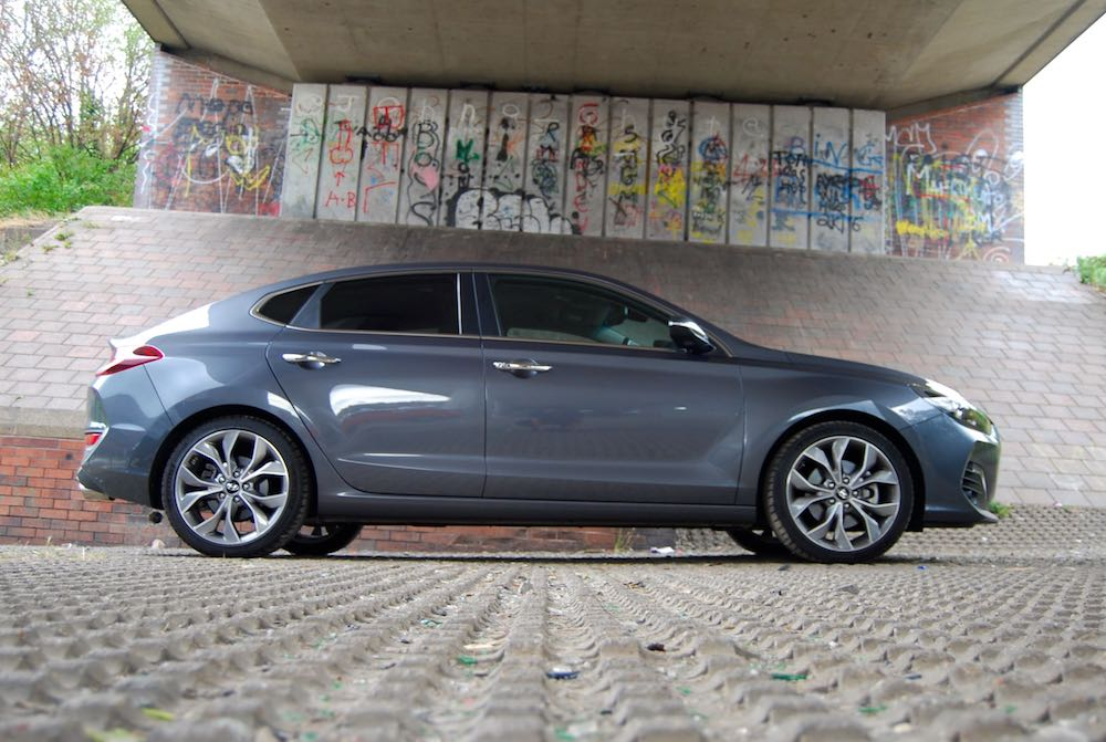 hyundai i30 fastback review side grey