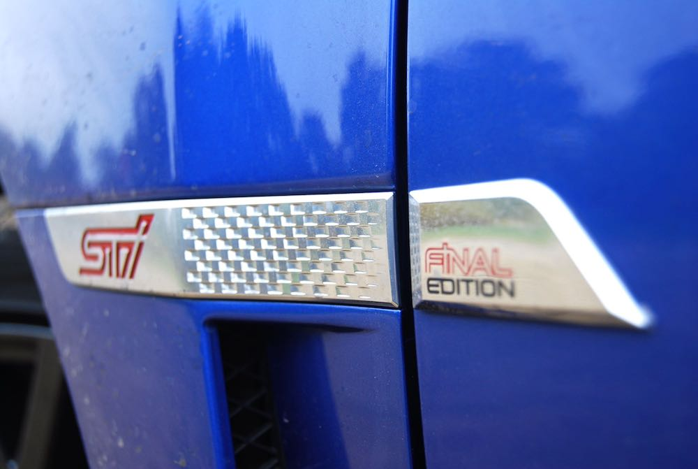 subaru wrx sti final edtion door badge review