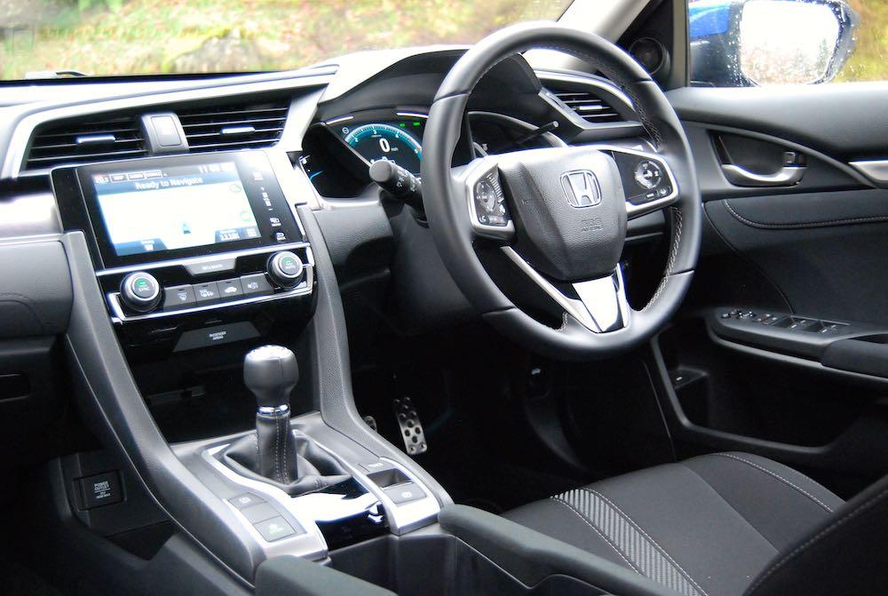 honda civic 4 door cabin interior review roadtest