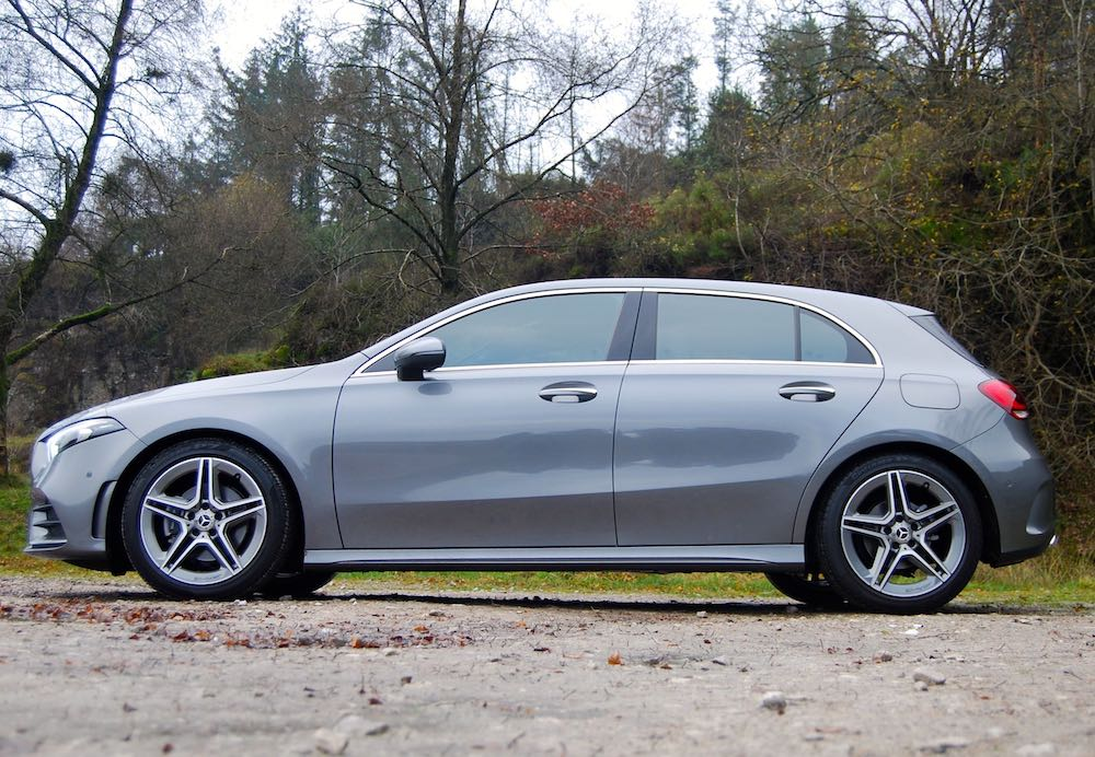 2019 mercedes benz a class review road test grey side