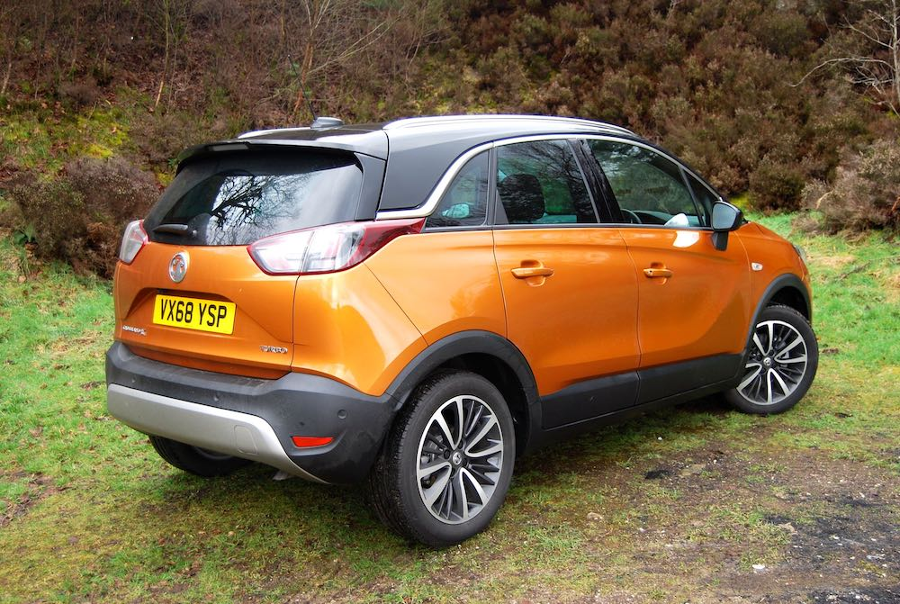 vauxhall crossland x orange side rear review roadtest
