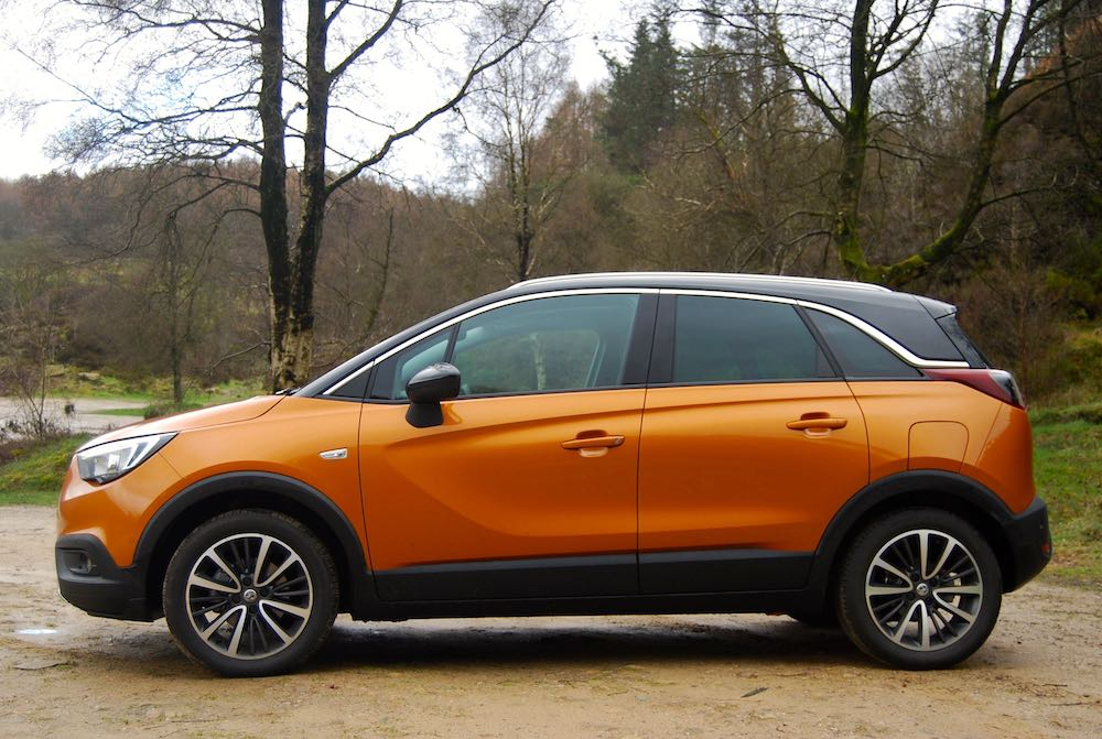 vauxhall crossland x orange side review roadtest