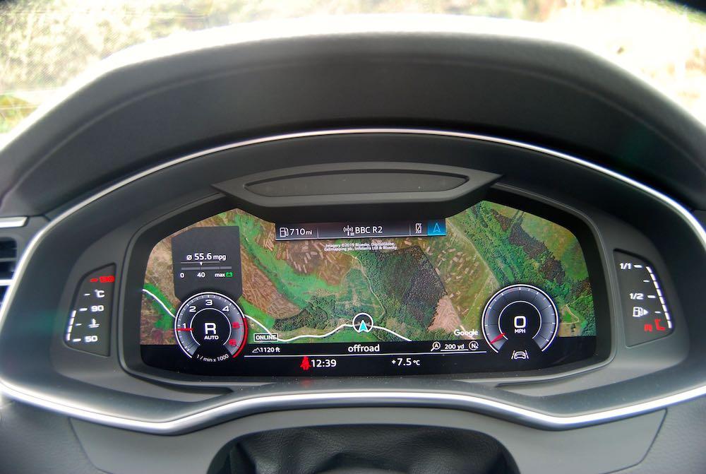 2019 Audi A6 Avant 3d satnav dashboard review roadtest