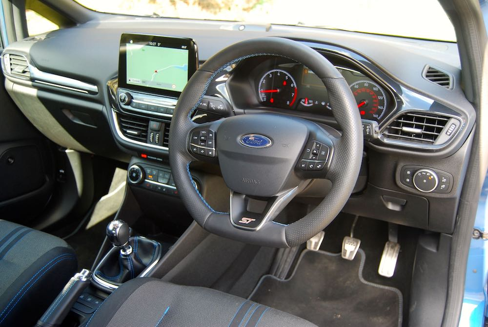 2019 ford fiesta st interior cabin review roadtest