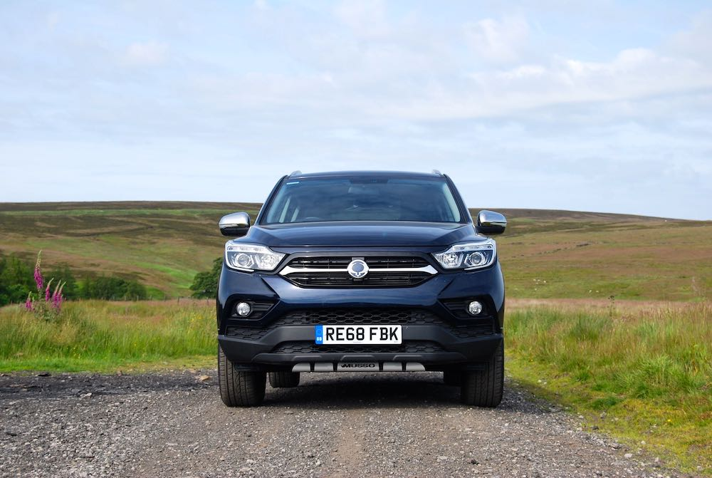 2019 SsangYong Musso Blue Front Review Roadtest