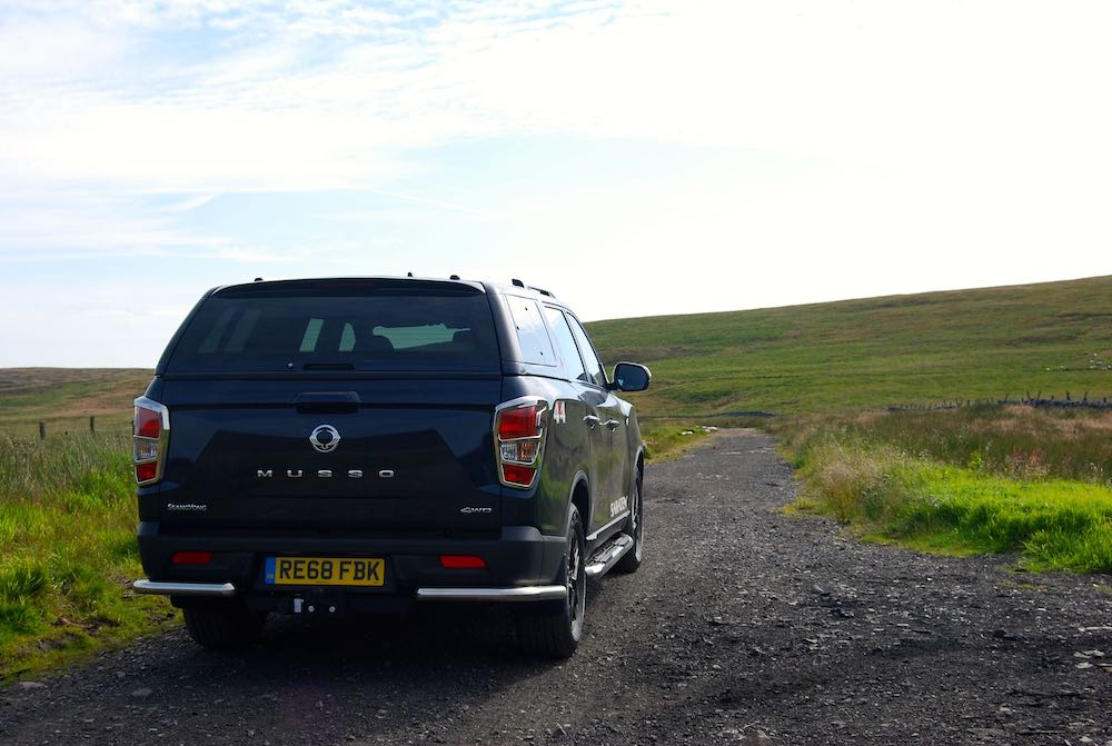 2019 SsangYong Musso Blue Rear Off Road Review Roadtest
