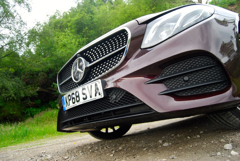 2019 mercedes benz e400d coupe front grille red review roadtest