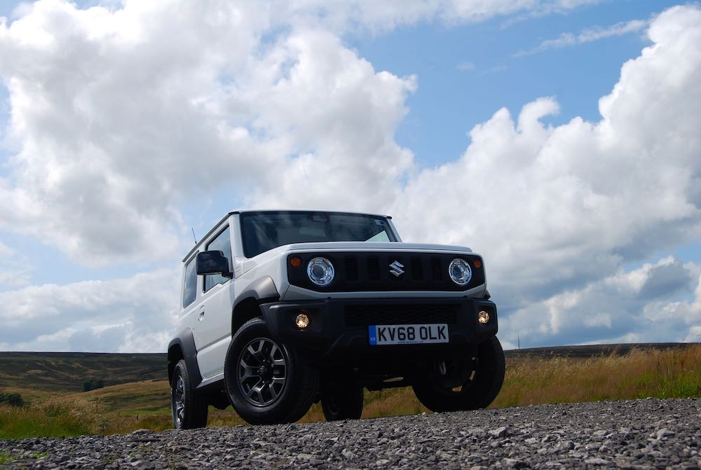 2019 suzuki jimny white front low review roadtest