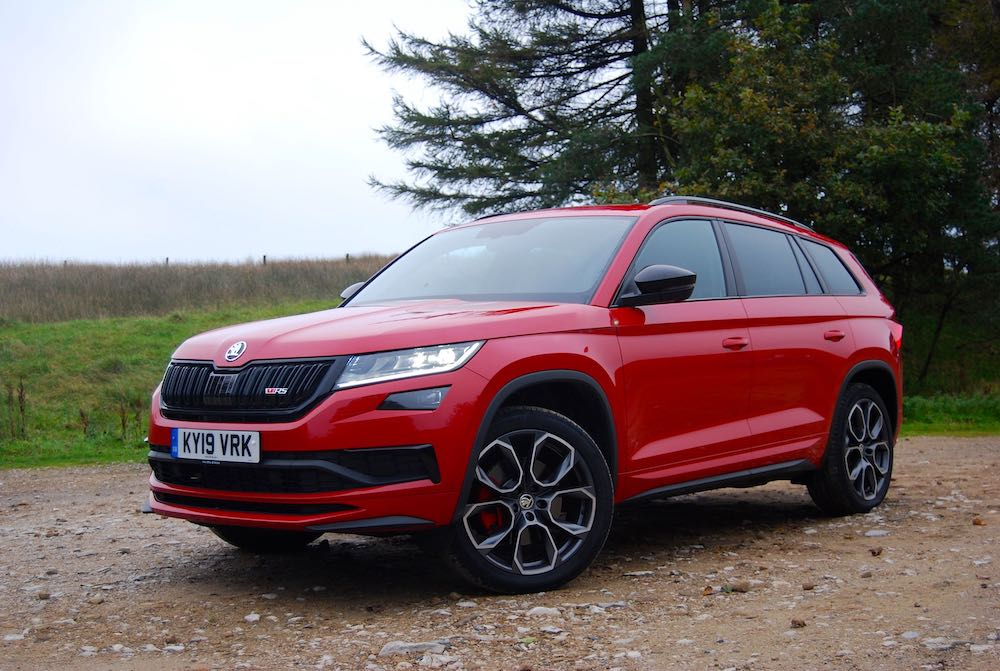 2019 skoda kodiaq vrs front side red review roadtest