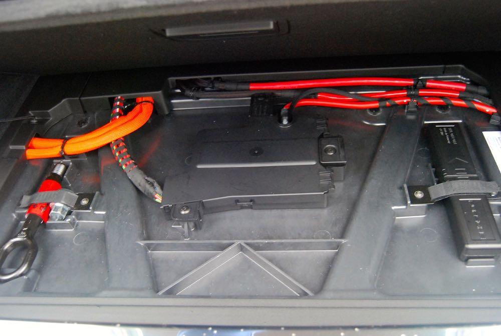 porsche panamera turbo s e-hybrid sport turismo battery cable review