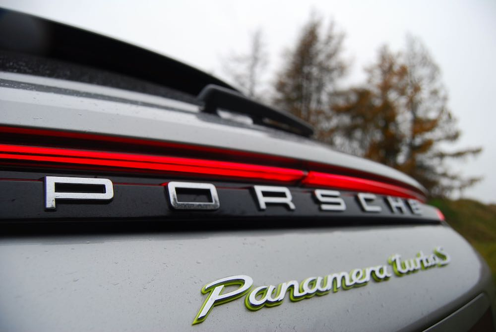 porsche panamera turbo s e-hybrid sport turismo rear light review