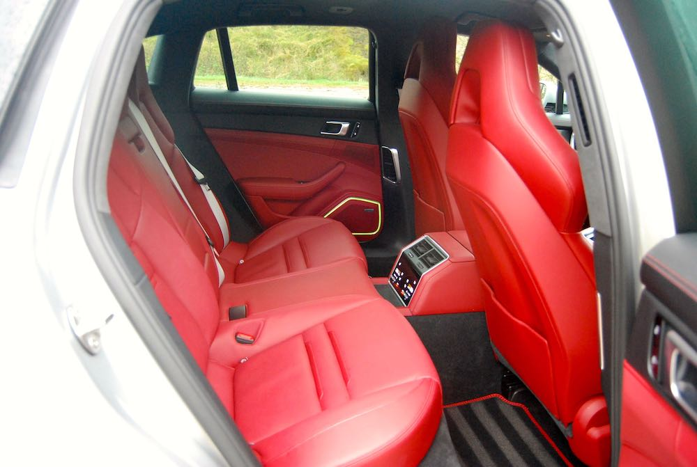 porsche panamera turbo s sport turismo red rear seats review
