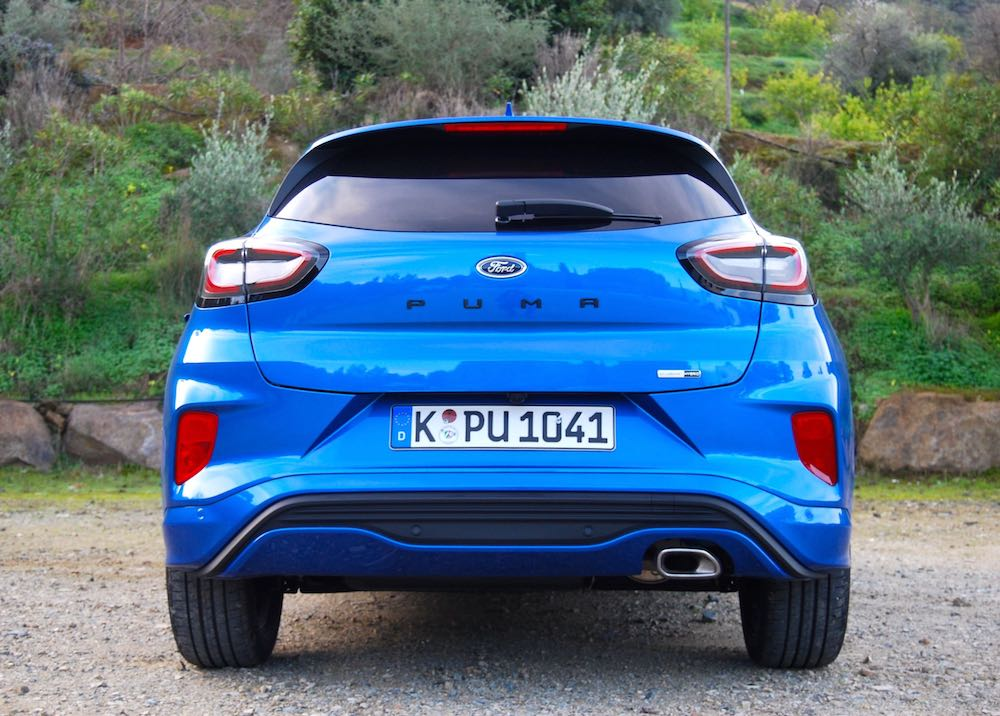 new 2020 ford puma blue rear back review roadtest