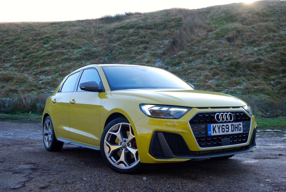 2020 audi a1 sportback yellow front side review roadtest