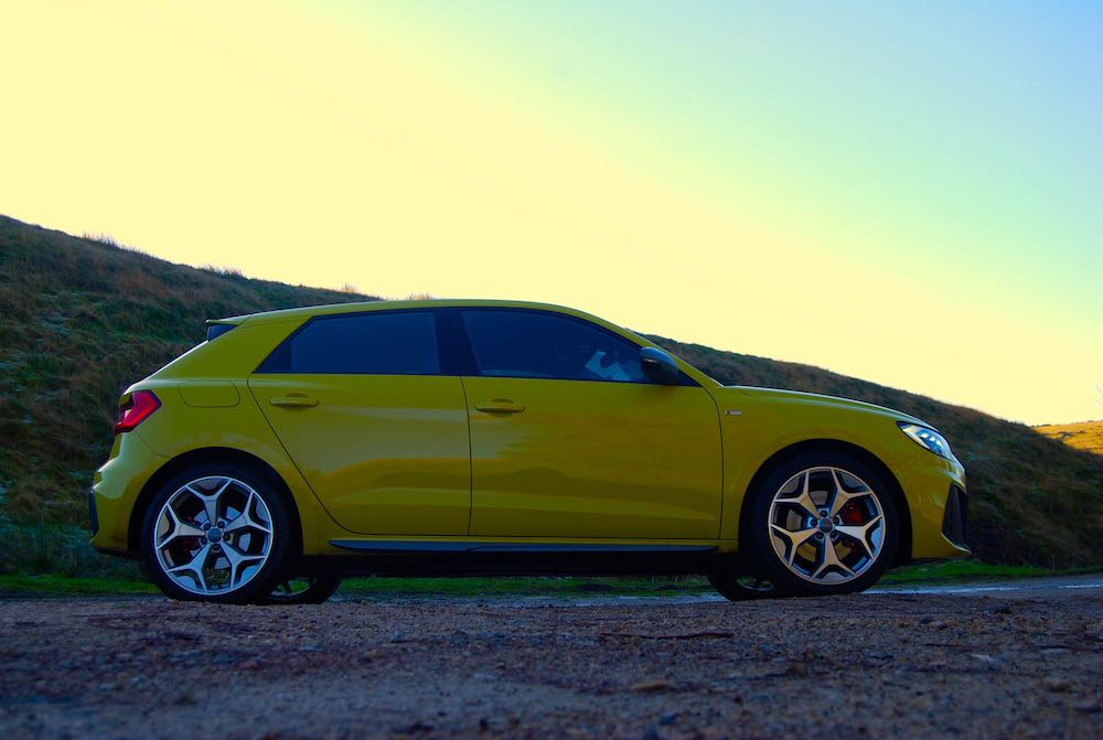 2020 audi a1 sportback yellow side review roadtest