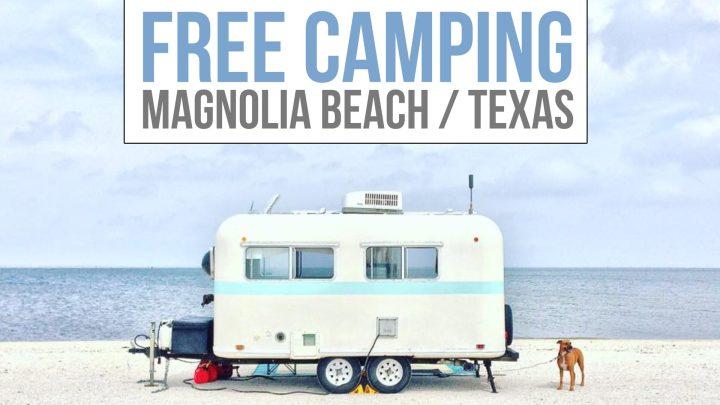 Free Camping on Magnolia Beach, Texas