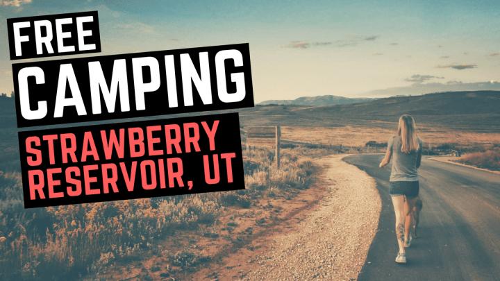 Free Camping at Strawberry Reservoir, Utah