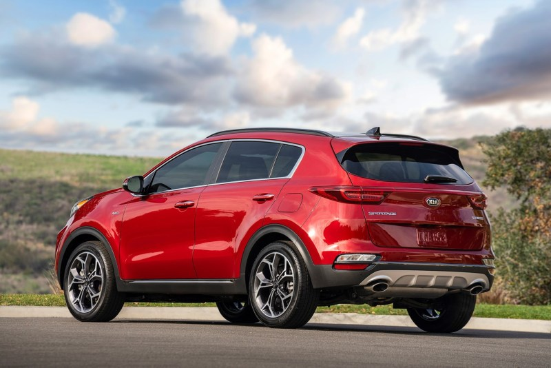 Kia Sportage payload capacity is between 1100 and just under 1300 pounds.