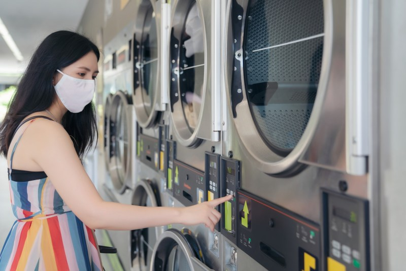 RV washer dryer combos.  No more laundromat