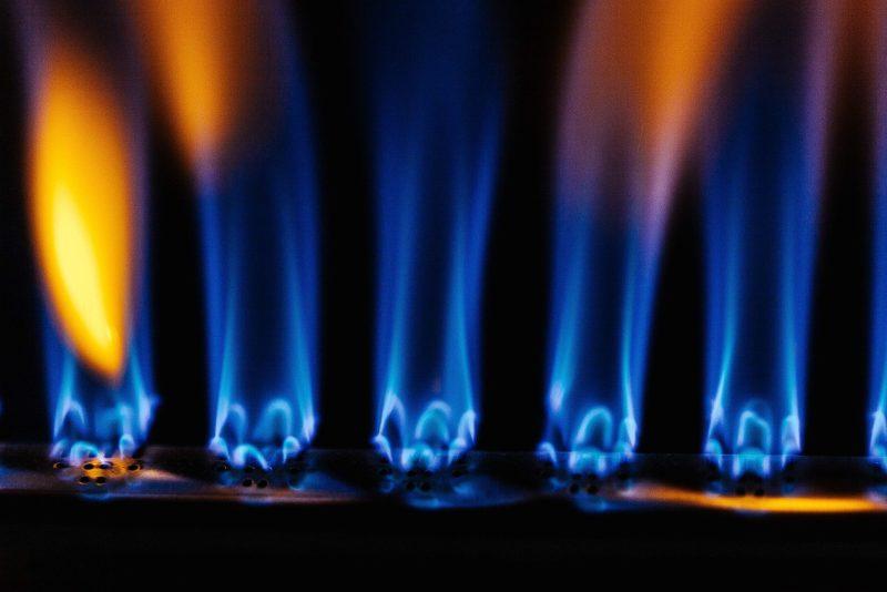 RV propane dangerous. Yellow and orange flames show carbon monoxide