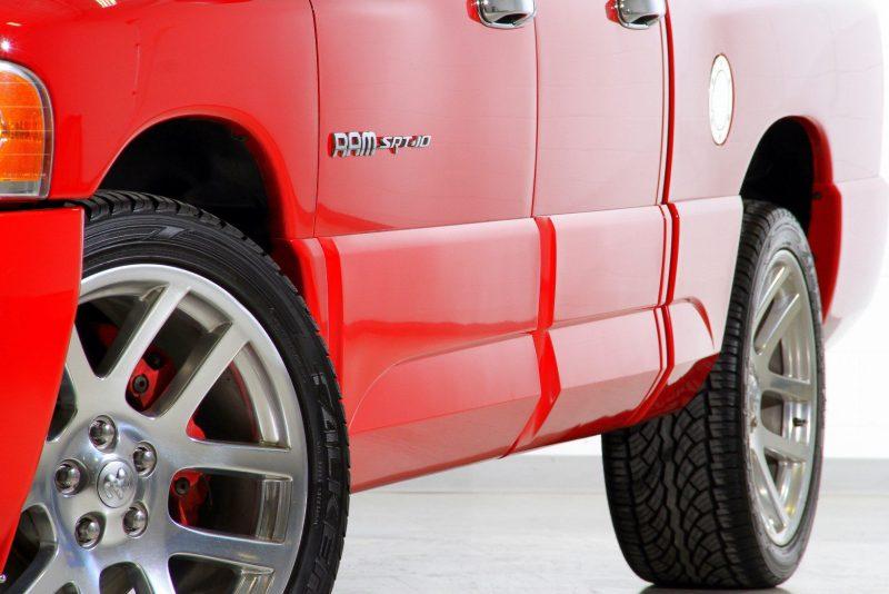 Close up shot of red Ram SRT-10 Viper