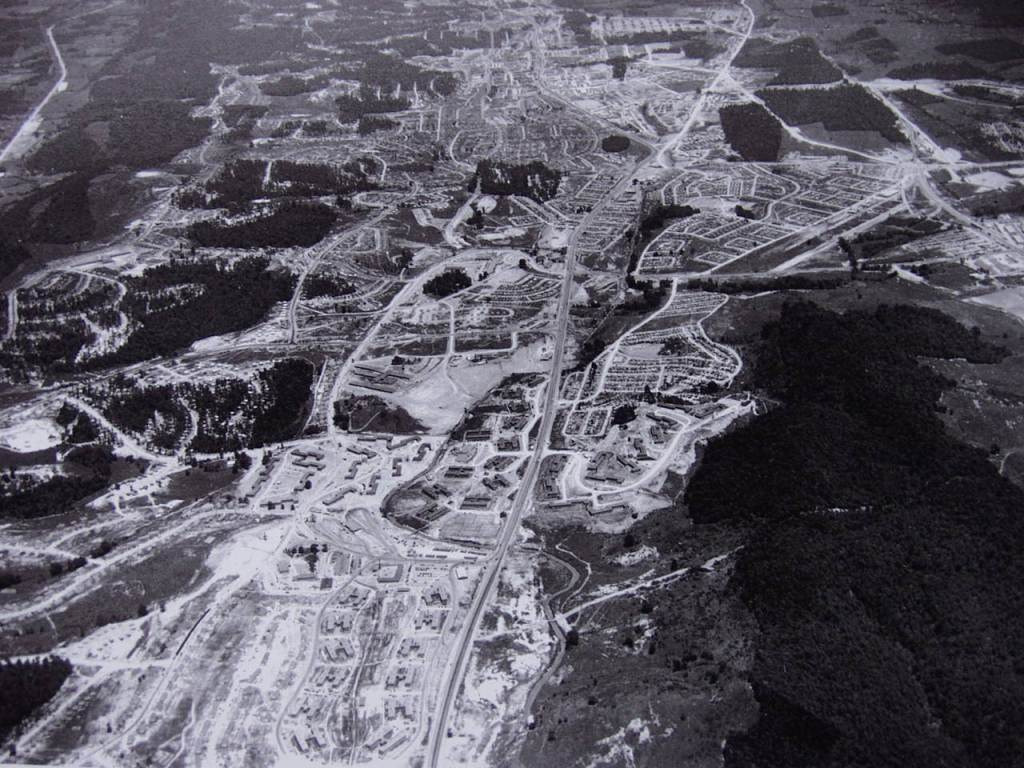 aerial image of Manhattan Project Park.