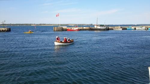 Velkomstbåd fra Bogø