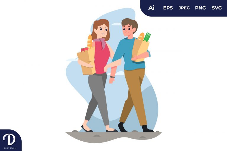 Walking Couples with Different Activity