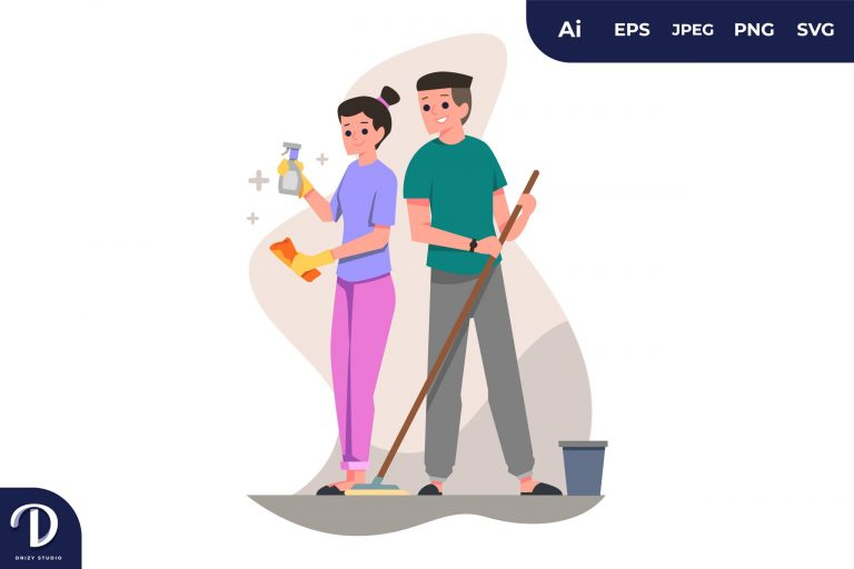 Cleaning Couples with Different Activity